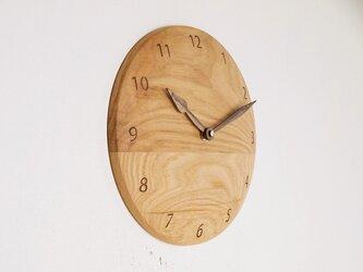 木製 掛け時計 丸 栗材6の画像