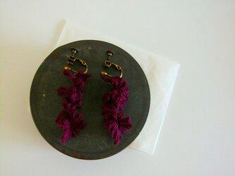 イヤリング「深紅珊瑚ノヨウニ」の画像