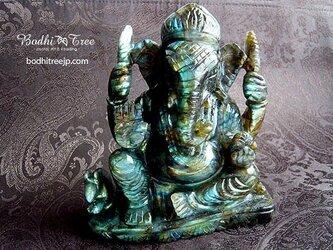 【特大】ガネーシャ・カービング(彫像)ラブラドライト-aの画像