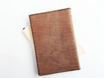 牛革キップの文庫本カバー ヴィンテージの画像