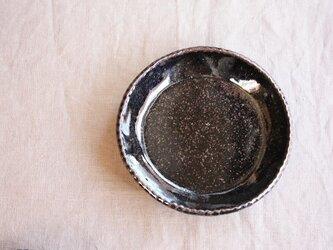 gizagizaリム皿(小/黒)の画像
