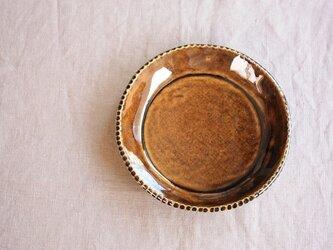 gizagizaリム皿(小/茶)の画像