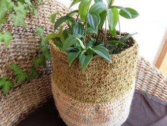 麻紐の植木鉢カバー(148)の画像
