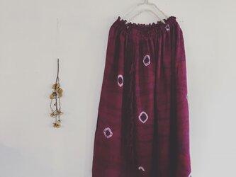 ムラサキ染☆フリンジのスカート(o-sc-009)の画像