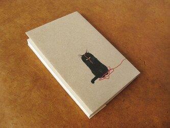 猫 紙ブックカバー *クロちゃん5枚セット!!*の画像