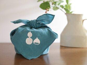 お弁当包み ロゴ(青)の画像
