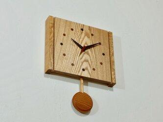 振り子時計(タモ002)の画像