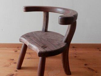 小椅子 ch1110 ウォールナット 子ども椅子の画像