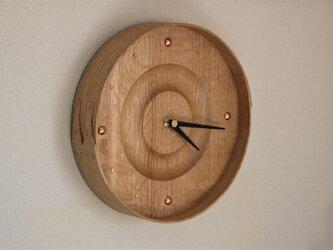 曲げ木掛け時計(OAK)の画像