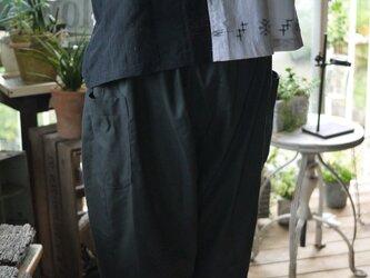 久留米絣とリメイク着物地のトップスの画像