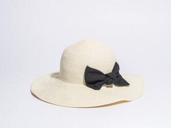 麦わら帽子 女優帽 ナチュラルマテリアルハット 17SSN-005の画像
