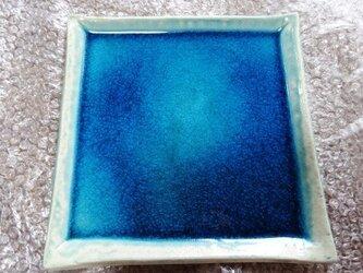 エジプト青釉 角皿 EB3の画像
