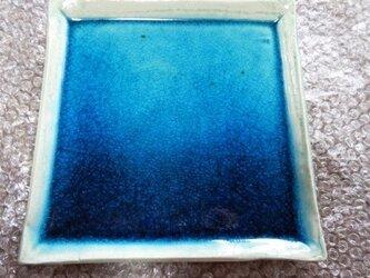 エジプト青釉 角皿 EB4の画像