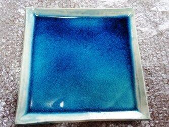 エジプト青釉 角皿 EB5の画像