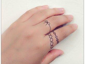 Ring tatoo*の画像