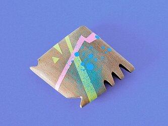 手鏡 small 直径3㎝ 幾何学模様(パステル)aoguの画像