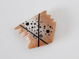 手鏡 small 直径3㎝ 幾何学模様(黒&白)monotoneの画像