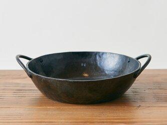 鍛冶職人の鉄鍋(L)【受注製作:11月中旬お届け】の画像