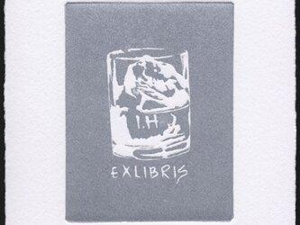 グラス・蔵書票/銅版画 (作品のみ)の画像