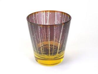 竹林と蛍火のグラス【紫紺山吹】の画像