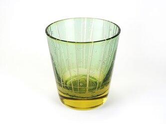 竹林と蛍火のグラス【千歳山吹】の画像