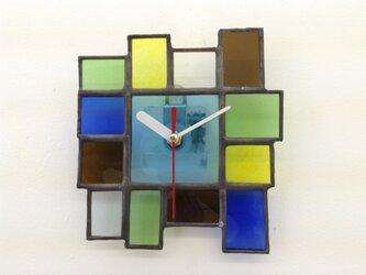 醤油瓶ステンドグラス時計Dの画像