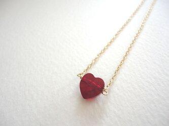 [LOVE HEART]スワロフスキーネックレスの画像