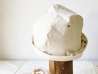 LINEN ROPE HELMA HAT | OFFWHITE【L】の画像