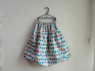 ★春物新作★北欧系★コットンリネン★Pear&Apple大人バルーンスカートの画像