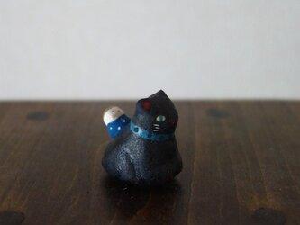 猫とお散歩のフェーブ(黒猫)の画像
