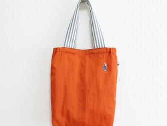 《受注制作》小さい仲間のナイロンバッグS/オレンジの画像