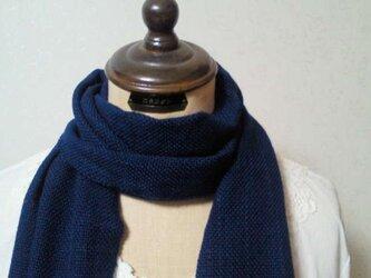 木綿100%手織りストール(藍染め)の画像