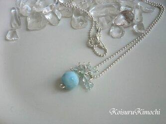 再販*ラリマーとアクアマリンのネックレス◆空を映す海◆の画像
