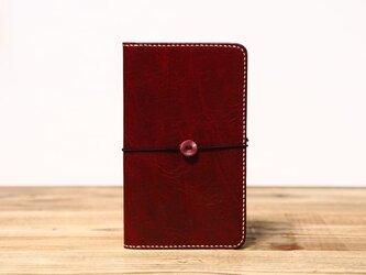 野帳サイズのノートカバー(ワイン)の画像