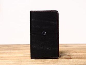 野帳サイズのノートカバー(ブラック)の画像