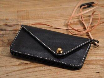 ドイツホックの長財布(ネイビー)の画像