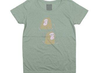 温泉の日本猿イラストTシャツ動物(アニマル)レディースS〜XLサイズ Tcollectorの画像