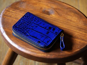 《LEO》ラウンドジップコインケース ブルーの画像