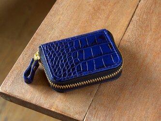 《LEO》ラウンドジップコインケース スリム ブルーの画像