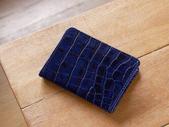 《LEO》二つ折りパスケース ブルーの画像