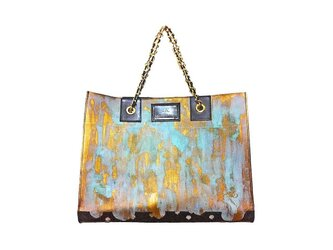 ラストゴールド 青サビトートバッグの画像
