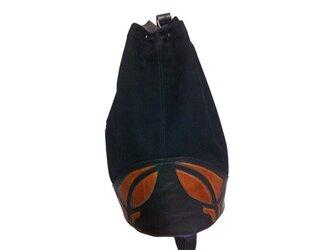 ヌバック ドローストリングバッグの画像