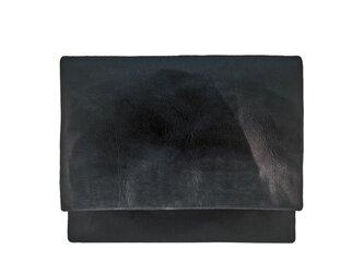 シープ ブラック×グレー A4 クラッチバッグの画像