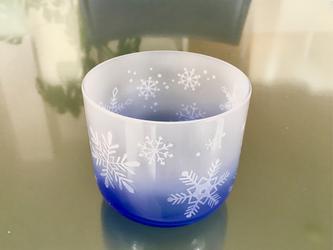 雪の結晶清酒グラスの画像