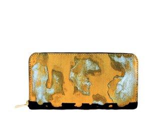 ラストゴールド 青サビ ジップアラウンドウォレットの画像