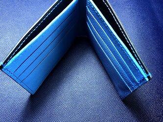 レザー二つ折り財布の画像