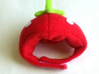 苺のかぶりもの(帽子)【S/M/L】の画像