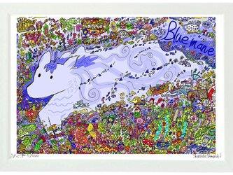 Blue mane (A4 frame)の画像