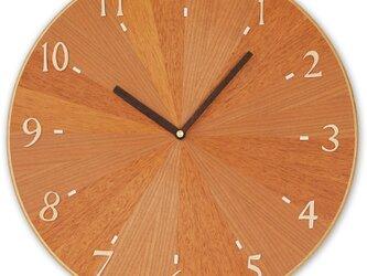 壁掛け時計 放射模様の画像
