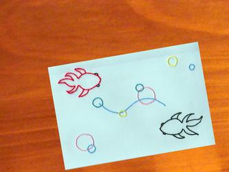 暑中お見舞いカード*Goldfishの画像